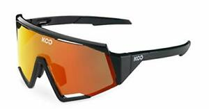 KOO Spectro Cycling Sunglasses Black / Red Mirror Lenses
