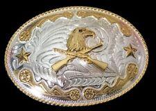 WESTERN COWBOY COWGIRL EAGLE GOLDEN BELT BUCKLE BOUCLE DE CEINTURE