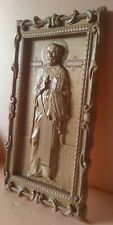 "Icon Saint Nicholas. Wooden Carved Picture  27"" size."