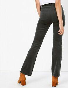 M&S PER UNA  Corduroy Slim Flare Trousers PRP £39.50