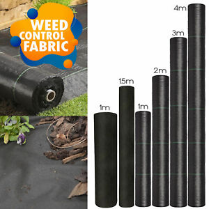 Weed Control Fabric Heavy Duty Membrane Garden Landscape Ground Cover Sheet