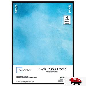 Mainstays 18x24 Basic Poster Frame, Black