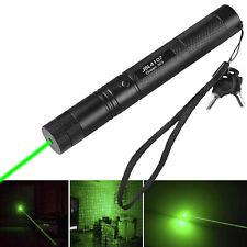500Mile 532nm 303 Green Laser Pointer Sichtbarer Lichtstrahl Lazer Pen + 18650