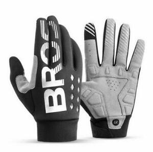 Men Women  Full Finger Cycling Gloves SBR Shockproof Touchscreen Warm Glove