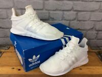 ADIDAS LADIES WHITE EQT SUPPORT ADV TRAINERS VARIOUS SIZES PINK LOGO YOUTH