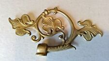 """Cast Brass Floral Gas Electric Style Arm Back 6 1/2"""" x 3 1/2"""" Unfinished"""