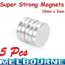 5 x Super Strong Round Disc 10mm x 2mm N35 Magnets Rare Earth Neodymium School