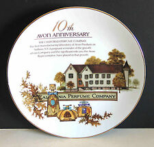 Avon 10 Year Anniversary CA Perfume Co Porcelain Collector Plate no box FREE SH