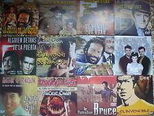 LOTE DE 300 DVD CLASICOS CINE ESPAÑOL,ACCION,OESTE 20 DISTINTOS( NUEVOS ESTUCHE)