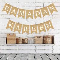 Eid Mubarak Ramadan Flag Pennant Bunting Eid Muslim Islam Decorations Banner YK