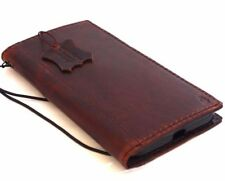 vintage genuine leather case for Huawei Nexus 6P book wallet cover brown slim uk