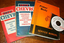 1973 73 Chevrolet Service Manuals Greenbrier Monte Carlo Bel Air Caprice Impala