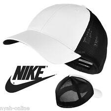 NEW Nike MESH BASEBALL CAP *BLACK* PLAIN FLEXFIT GOLF SWOOSH FITTED PEAK HAT