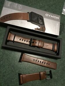 Nomad 44mm 42mm Genuine Leather With Free 2nd Strap! Nm1a4rbm00  Free Shipped