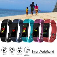 Bluetooth Montre Bracelet Connectée Intelligente Etanche Podomètre Fitness PB