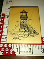 Beach Scenic Lighthouses Mounted Rubber Stamps Nautical Lighthouse Stamps