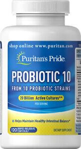 Puritans Pride Probiotic 10 from 10 Probiotic Strains 120 Ct