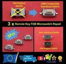 3x Remoto Portachiavi Microinterruttore per Nissan (Unità quantità 3 Pieces) -V3