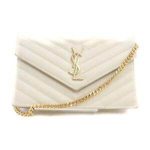 Yves Saint Laurent Shoulder Bag  Whites Leather 1415766