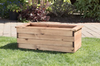 1 3ft Quality Trough Rectangle Wooden Garden Planter Extra Large Raised Bed Pot