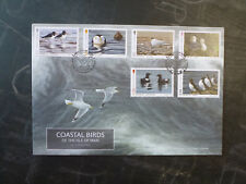 2017 ISLE OF MAN COASTAL BIRDS SET OF 6 STAMPS FDC FIRST DAY COVER