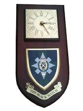 Black Watch Regimental Military Wall Plaque & Clock