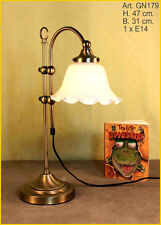 Jugendstil Tisch Büro Lampe Tischlampe Lese Glas Bürolampe Wohnzimmer GN179 GE