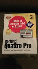 Vintage Borland Quattro Pro for Windows   Retail Box ver 5.0