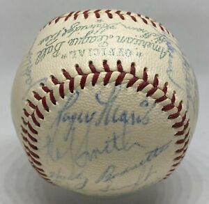 1958 A's Team 25x Signed Baseball ROGER MARIS Rookie Year AUTO PSA/DNA 7 LOA