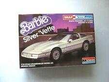 Barbie Doll Silver Vette Car (Corvette) #1408 Monogram Model Kit