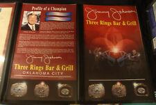 VINTAGE ORIGINAL 1990's DALLAS COWBOYS JIMMY JOHNSON Three Rings Bar Grill Menu