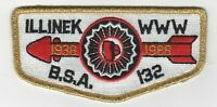 Boy Scout OA 132 Illinek 1988 50th Anniversary Lodge Flap
