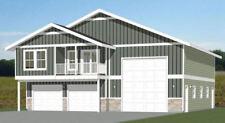 44x48 Apartment with 2-Car 1-RV Garage - PDF FloorPlan - 1,645 sqft - Model 5A