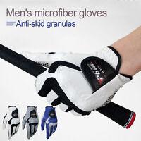 1pc Men Golf Gloves Slip-resistant Granules Microfiber Cloth Gloves Left Hand