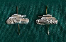 PAIR Russian Soviet ARMY MILITARY INSIGNIA Tank Panzer Pin Badge for Collar Tabs