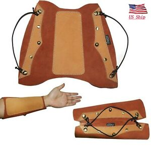US! Archery Arm Guard Traditional Leather Hunting Shooting Recurve Longbow Bow