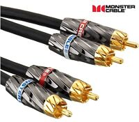 MONSTER Ultra High Performance Stereo Audio Interconnect Cable RCA connectors 3m