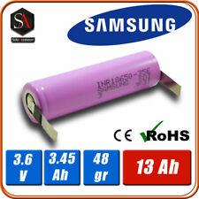 Batterie ricaricabili i18650 al litio li-ion 3.6v 3.7v SAMSUNG 3450mAh a saldare