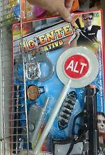 Agente polizia pistola paletta manette Kit gioco ottima qualita giocattolo toy
