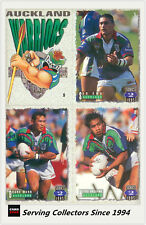 1995 Dynamic Rugby League Series 2 Base Card Team Set Auckland Warriors (9)