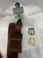 Brand New Mens Canterbury Leather Belt Size 32 34 36 38 40 42 44 46 48 50 54