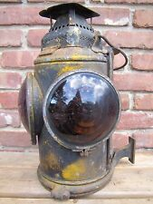 Antique PENNSYLVANIA RAILROAD ADLAKE CHICAGO Oil Lantern w Burner PRR lamp
