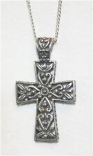 Gorgeous Openwork Floral Swirls Cross Pendant Necklace   ++++