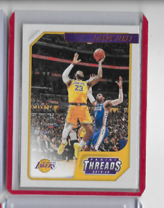 LEBRON JAMES 2019-20 CHRONICLES THREADS BASKETBALL CARD #86 - LAKERS (DK)