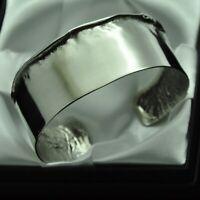 Vintage Artisan Boho Design Solid Silver Cuff Bracelet