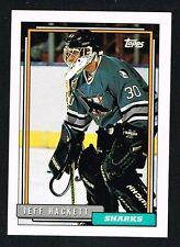 Jeff Hackett #185 signed autograph auto 1992-93 Topps Hockey Trading Card