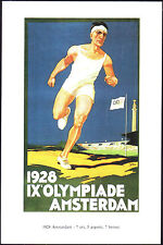 POSTCARD - IX GIOCHI OLIMPICI OLIMPIADI OLYMPIC GAMES AMSTERDAM 1928