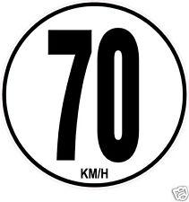 1 Limitation de Vitesse Autocars Tracteur Poids lourd 70KM/H adhésifs