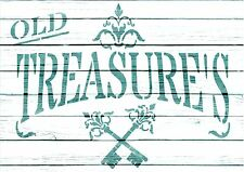 A5, Stencil OLD TREASURES, Shabby Chic, Fabric, Furniture, DIY, French,