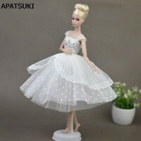 """Pure White Doll Dresses Clothes for 11.5"""" Doll Elegant Lady Evening Dress Toy"""
